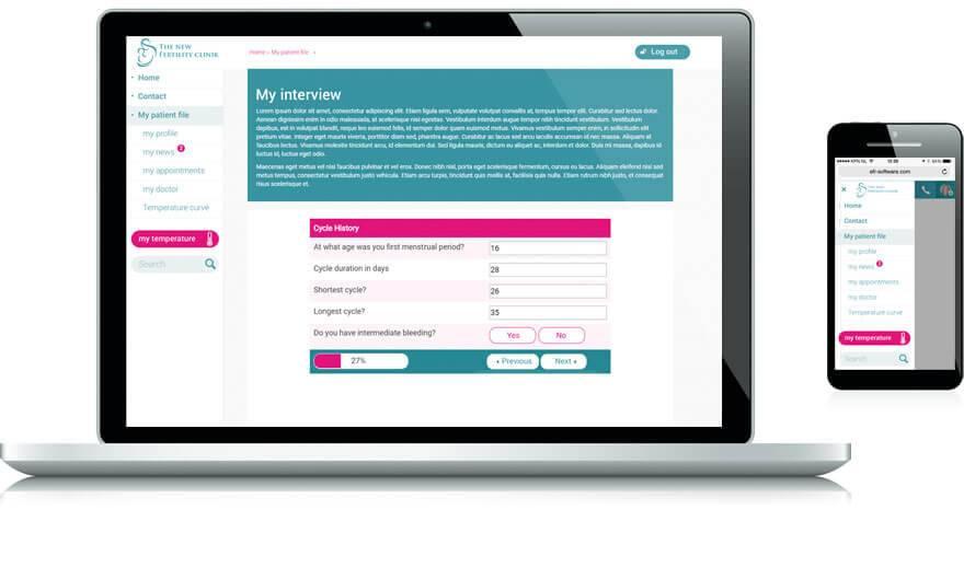 Online patient portal (PROM)